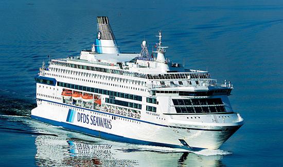 Danskebåten fra DFDS er på vei fra Oslo til København