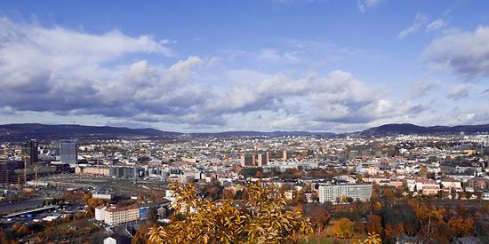 Utsikt over Oslo, bildet er tatt på Ekebergsåsen